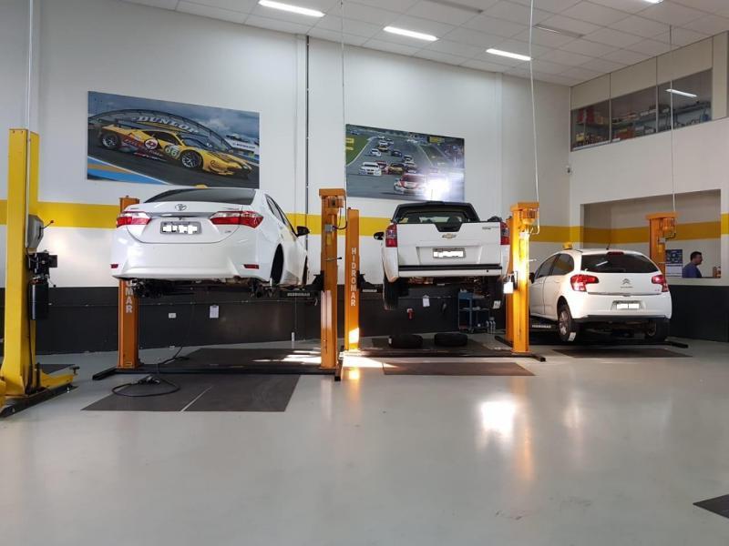 Piso para centro automotivo